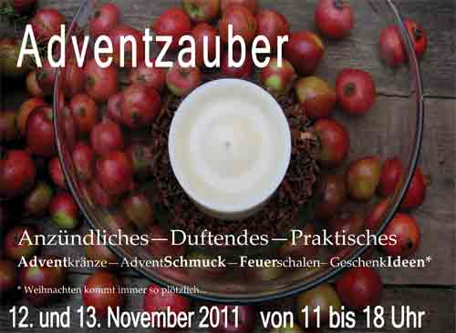 Adventszauber - Kerze mit Dekoration