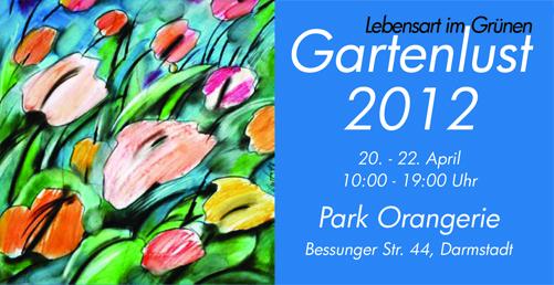 Plakat Gartenlust 2012 Darmstadt